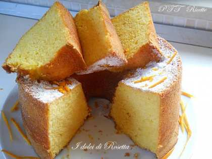 Chiffon cake all'arancia altissima