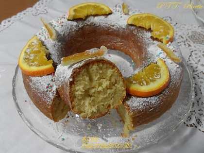 Ciambella all'arancia senza burro