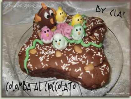 Colomba al cioccolato (ricetta veloce)