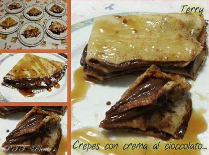 Crepes con crema al cioccolato