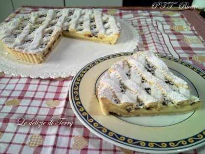 Crostata con crema e cioccolato