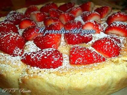 Crostata con crema parigina e crema frangipane