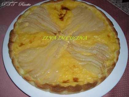 Crostata con pere e crema pasticcera
