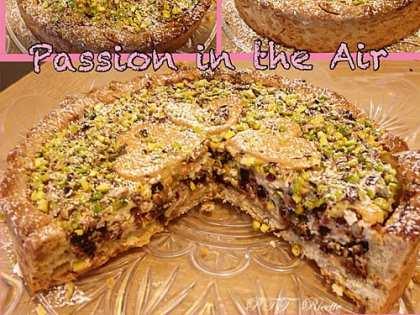 Crostata ricotta, cioccolato e granella di pistacchi