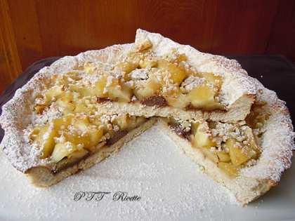 Crostata senza burro con mele e cioccolato