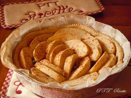 Crostata vegana di mele e cioccolato