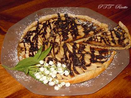 Crostata vegana mele e cioccolato