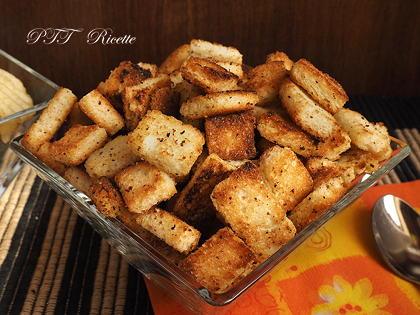 Crostini al rosmarino per vellutate e zuppe