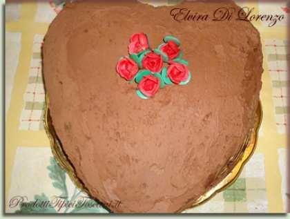 Cuore al cioccolato con crema e ganache