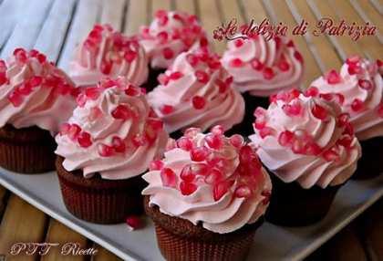 Cupcakes alla melagrana