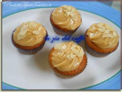 Cupcakes con crema al burro d'arachidi