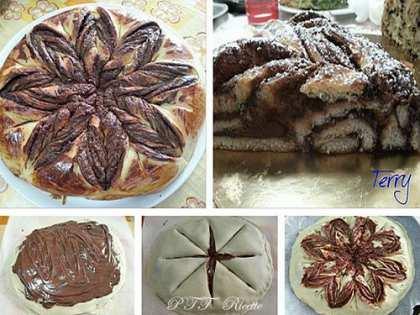 Fiore di pan brioche con Nutella
