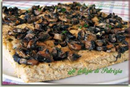 Focaccia ai funghi con farina integrale