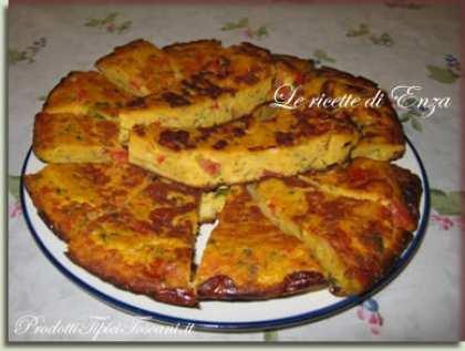 Frittata di pane e pomodorini