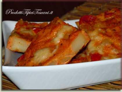 Frittata patate, pomodorini e mozzarella