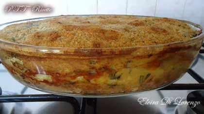 Gateau di patate con bietola, prosciutto cotto e formaggio filato