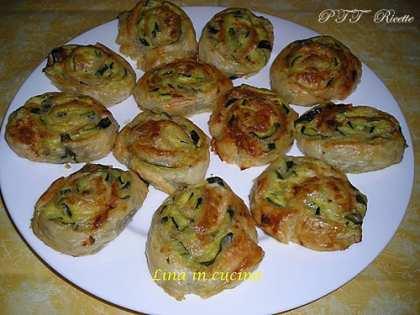 Girelle con zucchine e formaggio