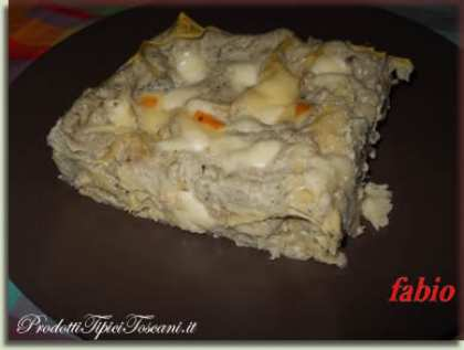 Lasagne con crema di melanzane e ricotta