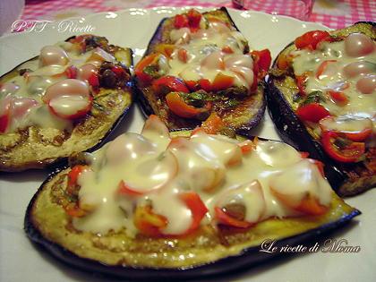 Melanzane al forno (pizzette di melanzane)