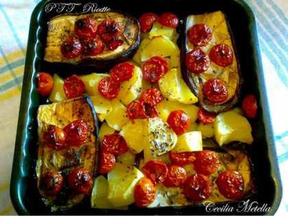 Melanzane e patate al forno