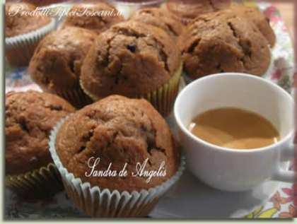 Muffin al caffè con gocce di cioccolato