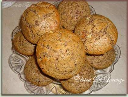 Muffin al cioccolato bianco e nero