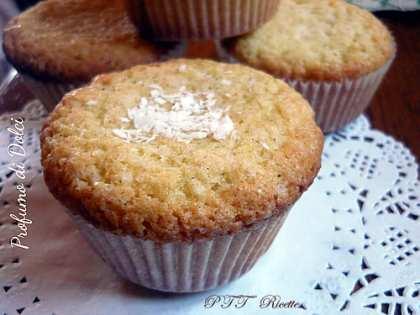Muffin al latte di cocco e vaniglia