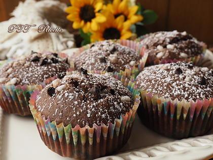 Muffin all'acqua cioccolato e arance