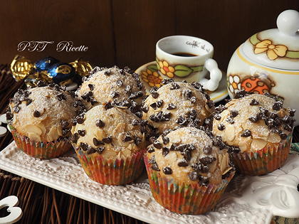 Muffin all'olio alle mandorle