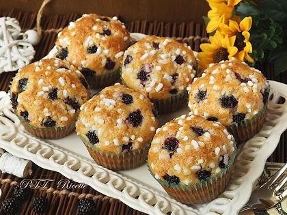 Muffin con more e limone