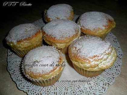 Muffin cuor di mela