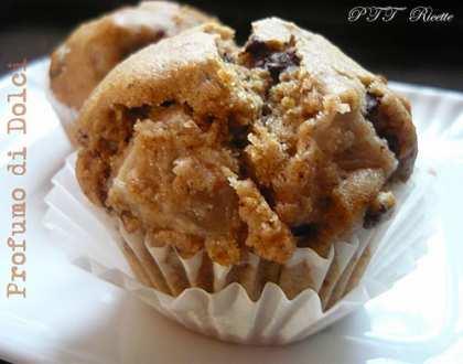 Muffin di farro, pere e cioccolato