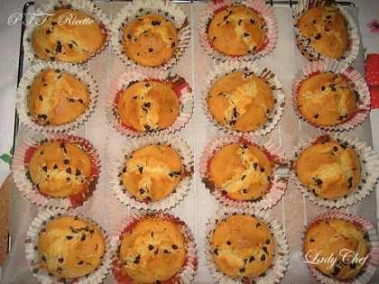 Muffin ricchi di gocce di cioccolato