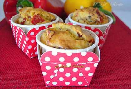 Muffins con speck e peperoni, senza lattosio