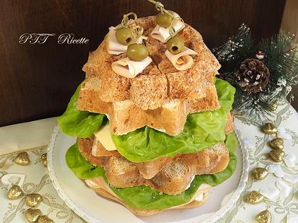 Pandoro gastronomico farcito