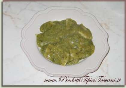 Panigacci in salsa verde