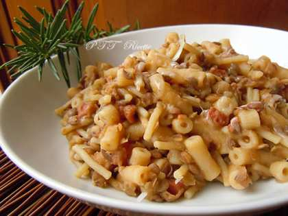 Pasta e lenticchie riposata