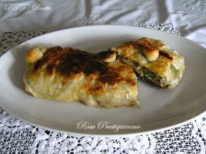 Rotolo di pasta sfoglia con carciofi e mozzarella di bufala
