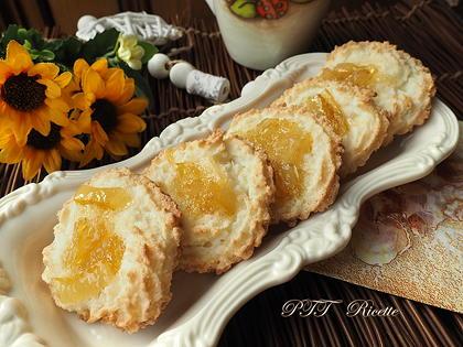 Pasticcini senza glutine al cocco con marmellata di cedro