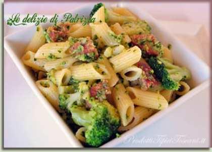 Penne ai broccoli e chorizo