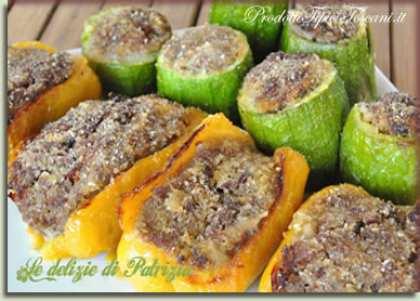 Peperoni e zucchine ripiene