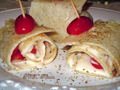 Piadina con stracchino e pomodorini