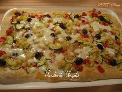 Pizza fantasia con lievito madre