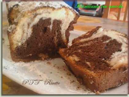 Plumcake bianco e nero senza glutine