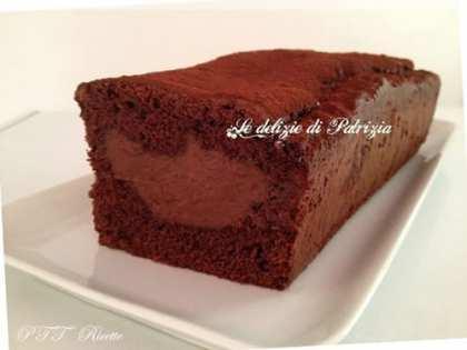 Plumcake con crema pasticcera al cioccolato