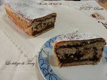 Plumcake di pan brioche con crema al cioccolato