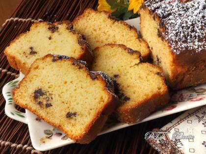 Plumcake senza zucchero, con cioccolato