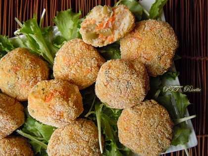 Polpette di cavolfiore, carote e olive