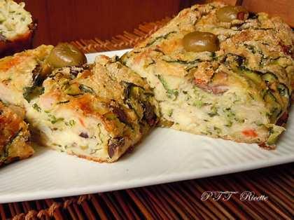Polpettone di zucchine e olive