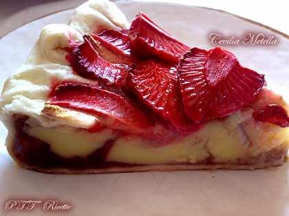 Quiche dolce alle fragole